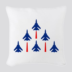 MILITARY JETS Woven Throw Pillow