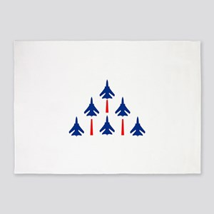 MILITARY JETS 5'x7'Area Rug