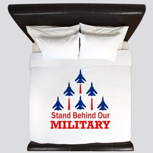 Stand Behind Our Military King Duvet