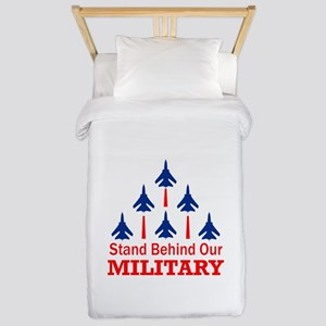 Stand Behind Our Military Twin Duvet