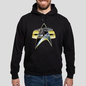 StarTrek Enterprise 1701 Com badge Hoodie