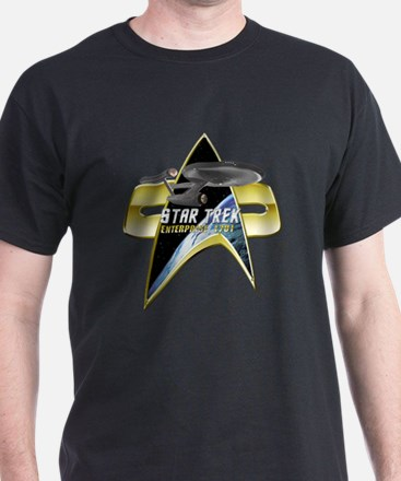 StarTrek Enterprise 1701 Com badge T-Shirt
