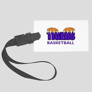 Tigers Basketball Luggage Tag