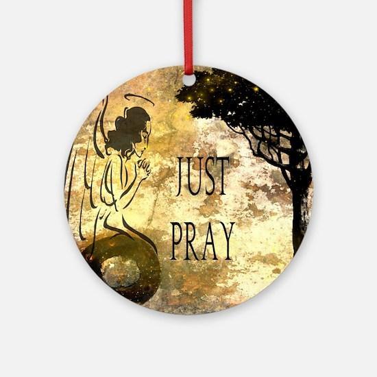 Praying Angel Round Ornament