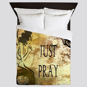 Praying Angel Queen Duvet
