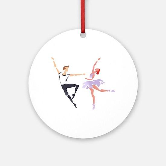 BALLET COUPLE Round Ornament