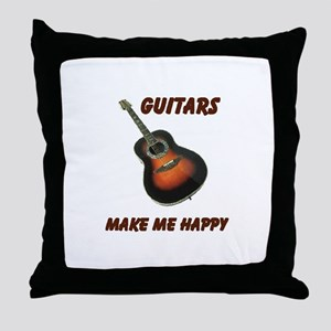 GUITARS Throw Pillow