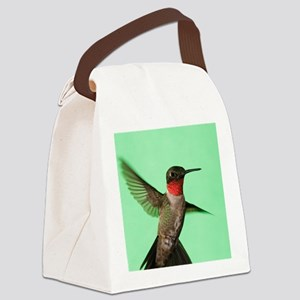 Ruby-Throated Hummingbird Canvas Lunch Bag