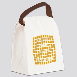 Personalized Cool Badge Canvas Lunch Bag