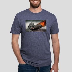Man Beside Flaming Blimp T-Shirt