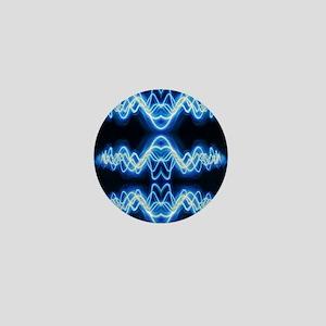 Soundwave deejay Techno music Mini Button
