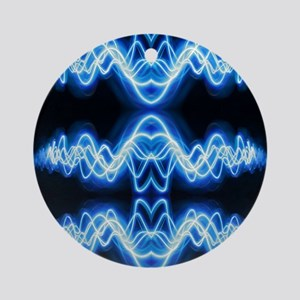 Soundwave deejay Techno music Round Ornament