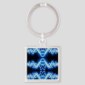 Soundwave deejay Techno music Square Keychain