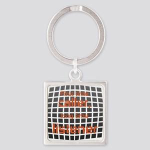 Personalized Cool Badge Square Keychain