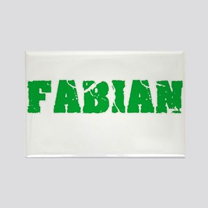 Fabian Name Weathered Green Design Magnets
