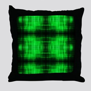 tribal neon green batik Throw Pillow