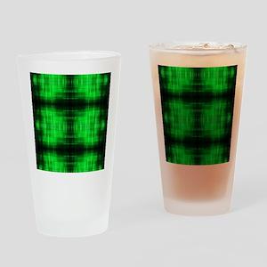 tribal neon green batik Drinking Glass