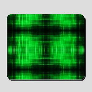 tribal neon green batik Mousepad
