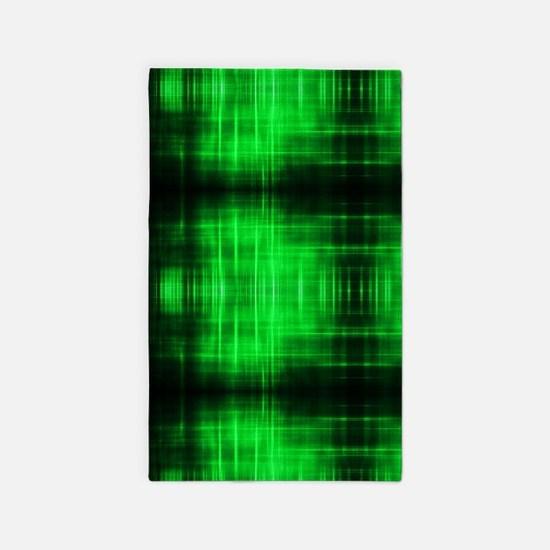 tribal neon green batik Area Rug