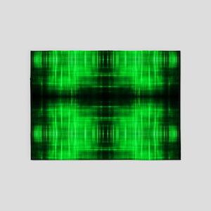 tribal neon green batik 5'x7'Area Rug