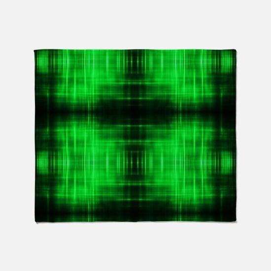 tribal neon green batik Throw Blanket