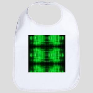 tribal neon green batik Bib