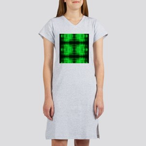 tribal neon green batik Women's Nightshirt