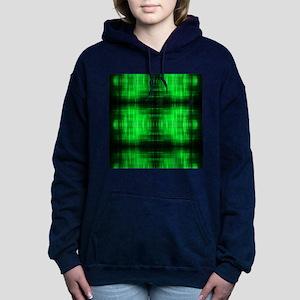 tribal neon green batik Women's Hooded Sweatshirt