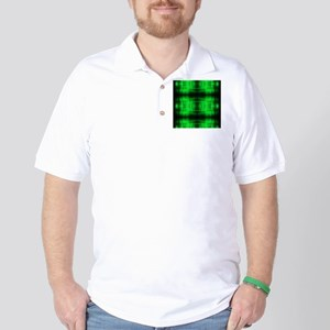 tribal neon green batik Golf Shirt