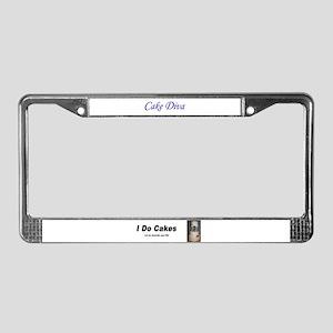 I do Cakes License Plate Frame