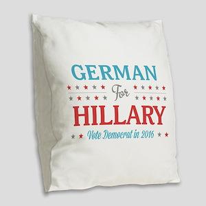 German for Hillary Burlap Throw Pillow