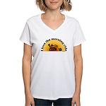 I Love the Morning Ride Women's V-Neck T-Shirt
