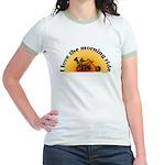 I Love the Morning Ride Jr. Ringer T-Shirt