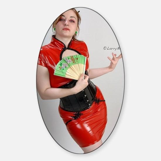 Chyna Doll Sticker (Oval)