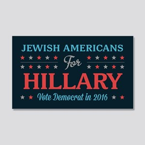 Jewish Americans for Hillary Wall Decal