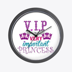 Vip Princess Personalize Wall Clock