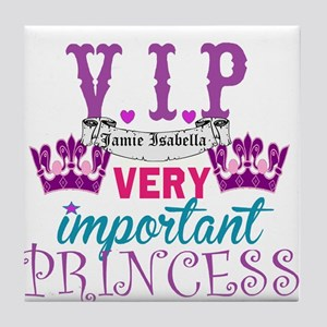Vip Princess Personalize Tile Coaster