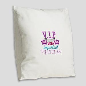 VIP Princess Personalize Burlap Throw Pillow