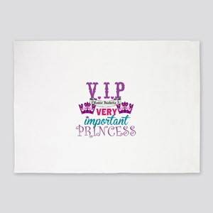 VIP Princess Personalize 5'x7'Area Rug