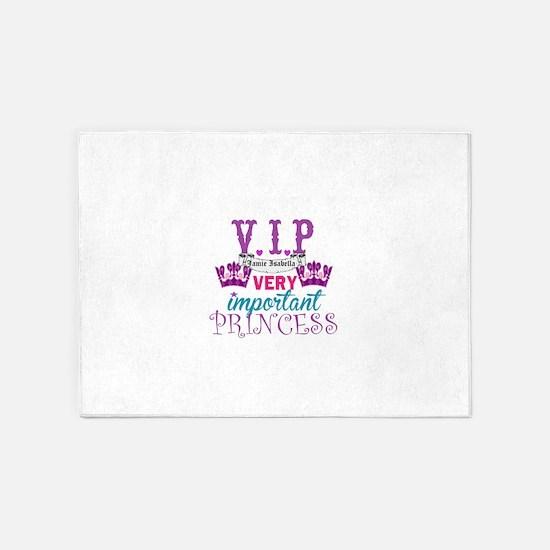 VIP Princess Personalize 5'x7'Area Rug