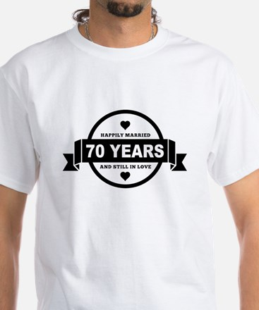 Happily Married 70 Years T-Shirt