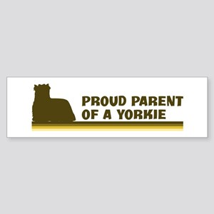 Yorkie (proud parent) Bumper Sticker
