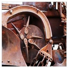 rustic Mechanical Gears steampunk  Poster
