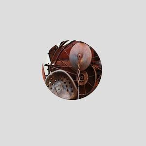 grunge Mechanical Gears rustic  Mini Button