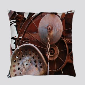 grunge Mechanical Gears rustic  Everyday Pillow