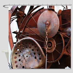 grunge Mechanical Gears rustic  Shower Curtain