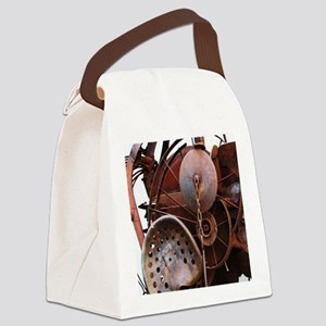 grunge Mechanical Gears rustic  Canvas Lunch Bag