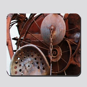 grunge Mechanical Gears rustic  Mousepad