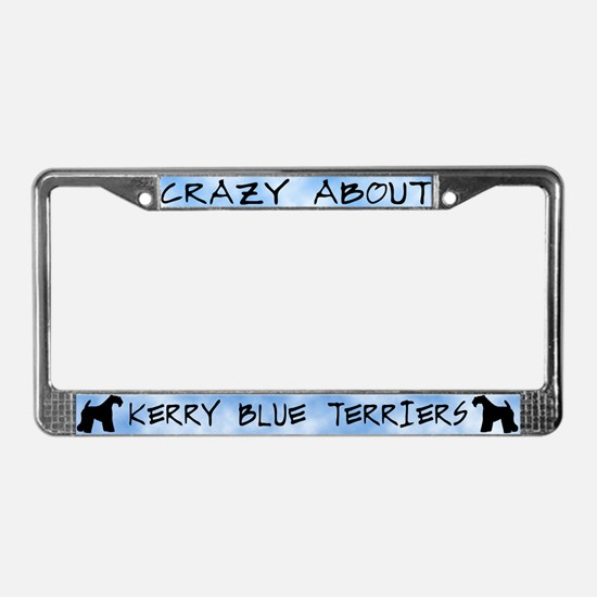 Crazy About Kerry Blue Terrier License Plate Frame