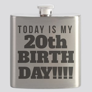 Today Is My 20th Birthday Flask